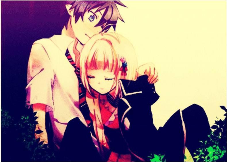 Cet adorable petit couple entouré de verdure vient du manga :