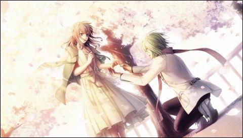 Là, c'est fort ! une demande en mariage sous un cerisier en fleurs ! Décidément, il a choisi le bon moment. De qui s'agit-il ?
