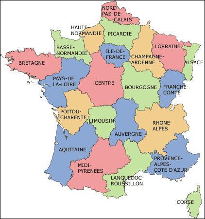 Le nombre de régions en France métropolitaine est de 22.