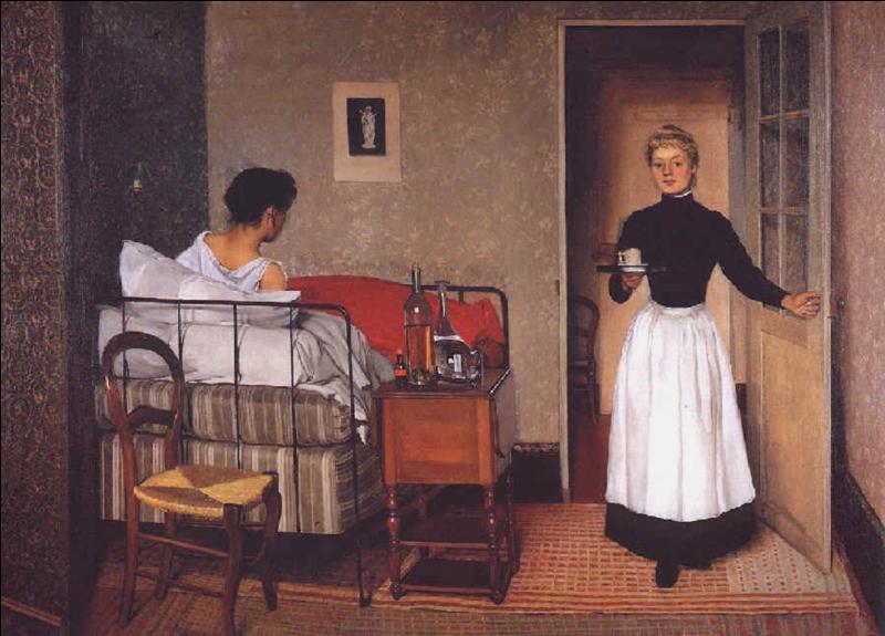 """Qui a peint ce tableau intitulé """"La malade"""" ?"""