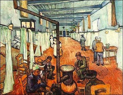 """A qui doit-on la toile """"Salle de l'hôpital à Arles"""" ?"""