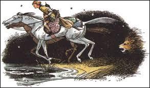 """Dans le tome 3 de """"Narnia"""" (""""Le Cheval et son écuyer""""), comment s'appelle le cheval que monte Shasta ?"""