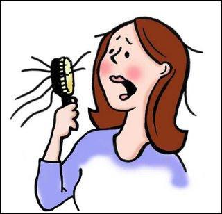 Chute partielle ou totale des cheveux ou des poils.