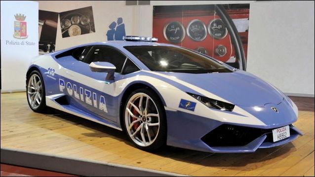 Dans quel pays pourrez-vous voir un policier au volant d'une Lamborghini ?