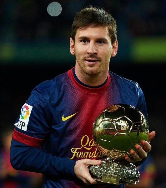 En quelle année Lionel Messi a-t-il remporté son premier Ballon d'or ?