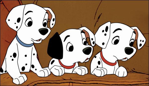 Quels sont les noms des bébés dalmatiens de Pongo et Perdita ?