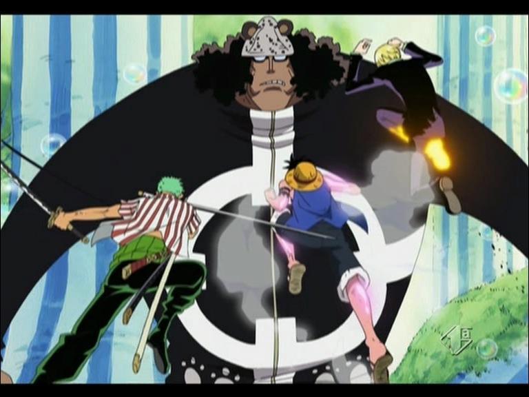 Cette technique combinée utilisée par Luffy, Zoro et Sanji a pour caractéristiques :