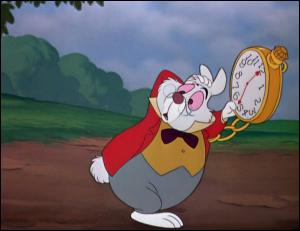 """Le lapin blanc dans """"Alice au pays des merveilles"""" est :"""