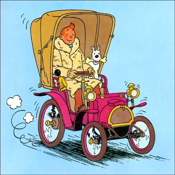 Les autos dans Tintin