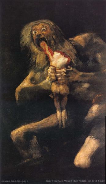 Restons dans la mythologie grecque. Saturne (ou Chronos) est en train de manger ses enfants sur cette œuvre. Qui a immortalisé cet odieux infanticide ?