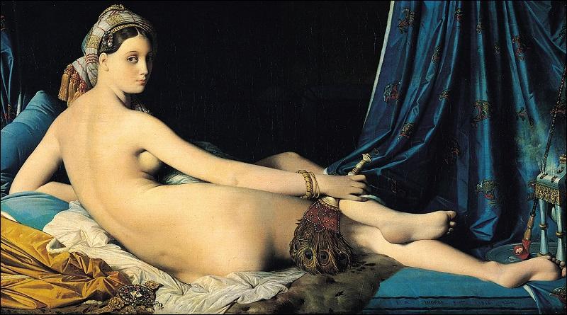 Autre tableau très célèbre du XIXe siècle. Il est intitulé 'La Grande Odalisque'. Qui en est l'auteur ?