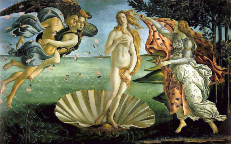 Quant à la belle 'Vénus' naissant, qui l'a si élégamment représentée ?