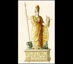 D'après les récits mythologique de quelle partie du corps de Zeus, Athéna est-elle sortie ?