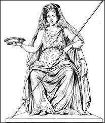 Je suis la déesse du foyer et sœur de Déméter et de Zeus, qui suis-je ?