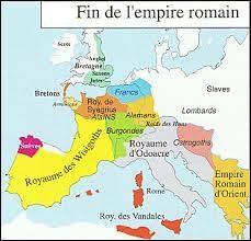 En quelle année la chute de l'Empire romain d'Occident a-t-elle eu lieu ?