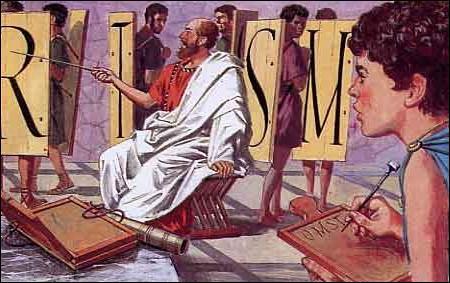 Il a reçu une éducation soignée, en particulier celle d'un précepteur lacédémonien : qui est-il ?