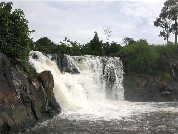 Quelle est la particularité des chutes de la Lobé situées au Cameroun ?