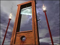 En 1792, Joseph Guillotin, inventeur de la guillotine, meurt, décapité par sa propre invention.