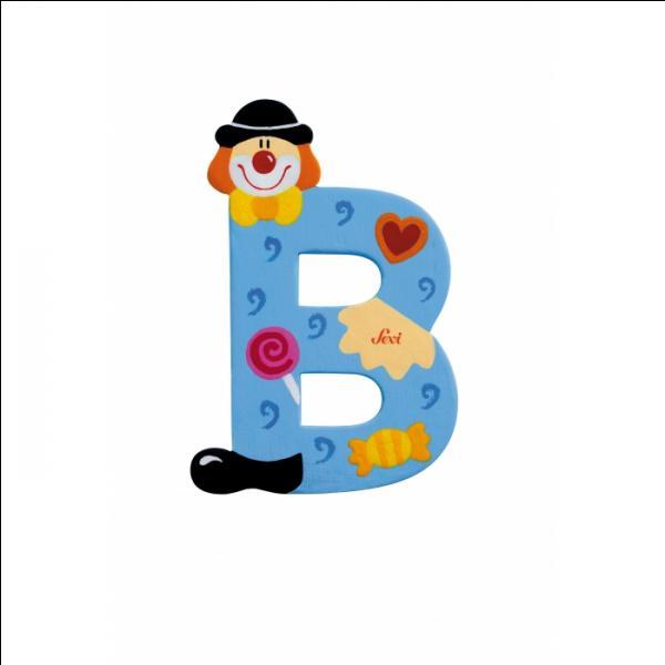 """Entre """"B"""" et """"F"""", il y a trois consonnes."""