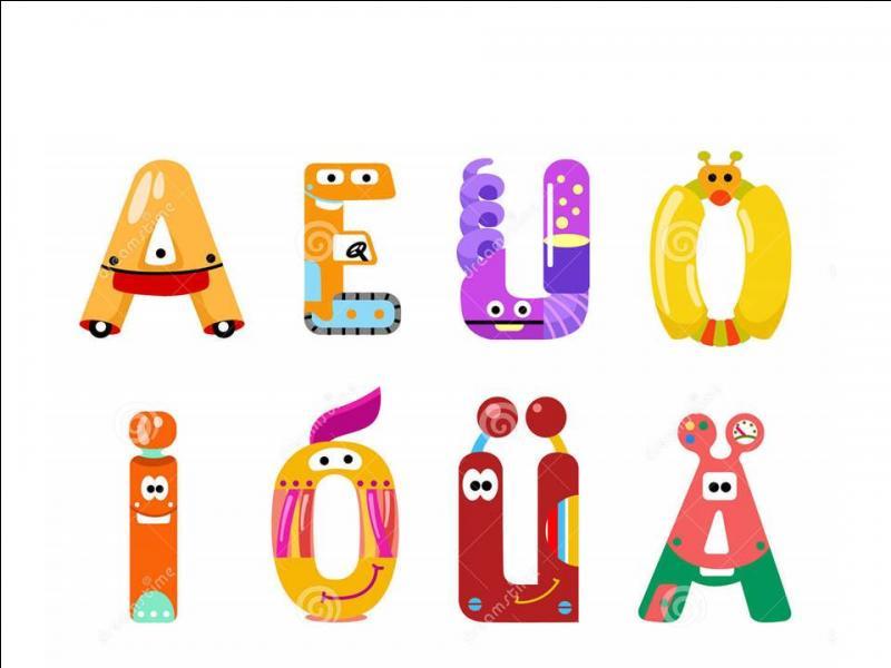 Dans l'alphabet, deux voyelles se suivent.