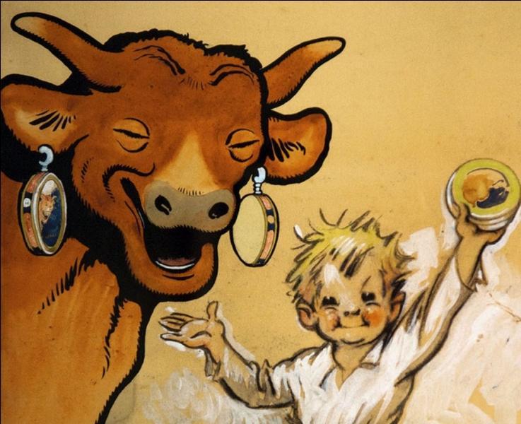"""Inspiré par un dessin de Benjamin Rabier, Léon Bel propriétaire d'une fromagerie, fera de la """" Vache qui rit """" un produit de renommée mondiale.Mais quel célèbre illustrateur est l'auteur de ce dessin ?"""