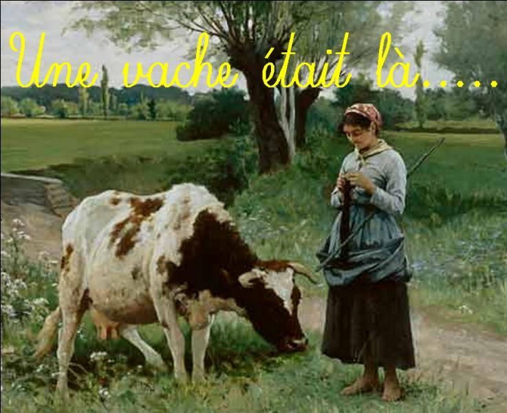 """"""" Une vache était là, tout à l'heure arrêtée. Superbe, énorme, rousse et de blanc tachetée..."""" Qui est l'auteur de ce poème extrait d'un recueil poétique intitulé """"Les voies intérieures"""" ?"""