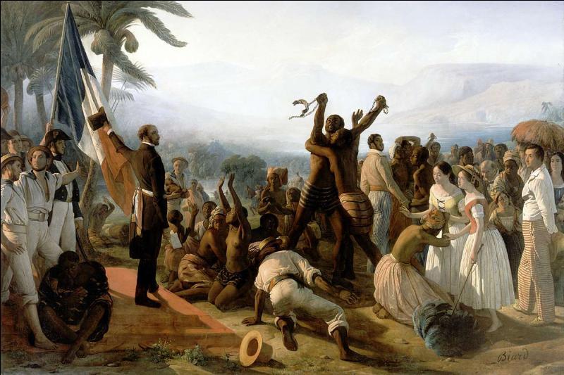 Quand ont eu lieu l'établissement du suffrage universel masculin et l'abolition de l'esclavage ?