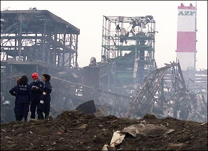 Quelle ville a été victime d'une catastrophe industrielle en 2001 ?