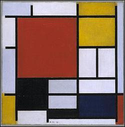 """Le peintre néerlandais Piet """"Mondrian"""" est reconnu comme l'un des pionniers de l'art abstrait."""