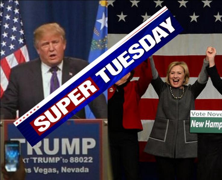 """Lors des élections primaires américaines, que désigne-t-on sous le nom de """"Super tuesday"""" (Super mardi ), le 1er mars prochain ?"""