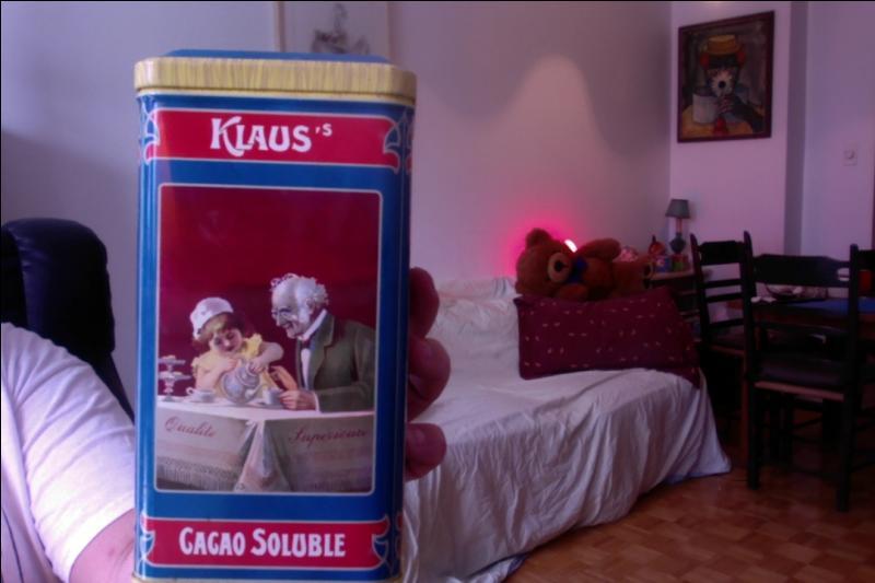 Voici la charmante image du cacao Klaus qui malgré son nom est Français mais quel pourcentage de cacao minimum contient la poudre ?