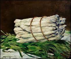 Qui a peint ce tableau représentant une botte d'asperges ?