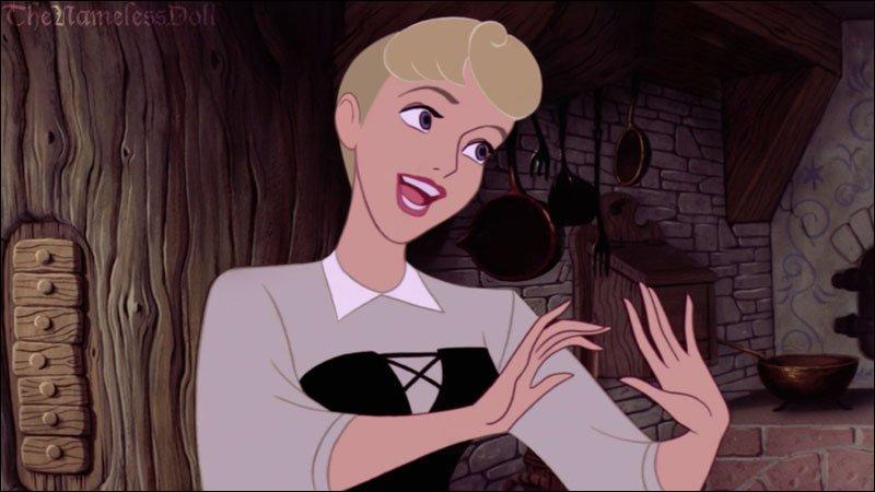 Mon Dieu. Blanche-Neige, tu es devenue... Un monstre ! J'ai peur, trop peur. Le coiffeur m'a fait une jolie coupe en échange de mes services (inutile de préciser lesquels). Mes marraines ont failli tomber dans les pommes. Il y avait Pimprenelle, Pâquerette et :