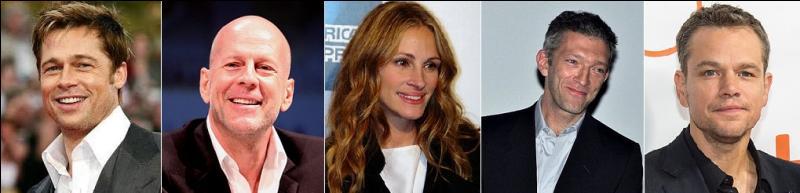 Quel film réunit entre autres Brad Pitt, Bruce Willis, Julia Roberts, Vincent Cassel et Matt Damon ?