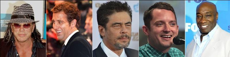 De quel film Mickey Rourke, Clive Owen, Benicio del Toro, Elijah Wood et Michael Clarke Duncan partagent-ils l'affiche ?