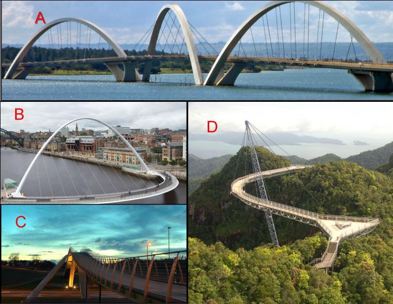Le pont Juscelino Kubitschek au Brésil est représenté en :