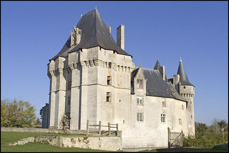 C'est un capitaine de Louis XI qui fit reconstruire le château de Cherveux, de quel pays venait-il ?