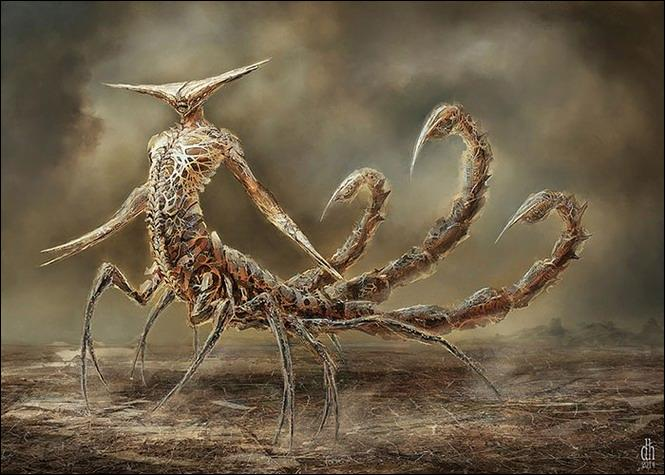Voici un monstre effrayant et c'est le...