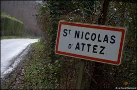Ancienne commune Euroise, Saint-Nicolas-d'Attez se situe dans la nouvelle région ...