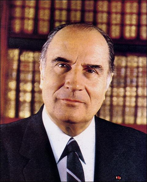 François Mitterrand a été le président de la France de...