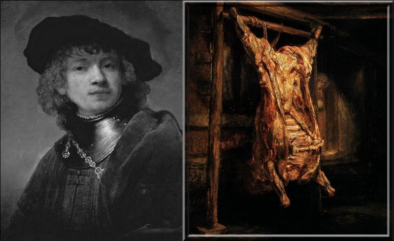 « ....... s'attaque à son Boeuf écorché somme si son pinceau était un couteau de boucher [....] l'on croit voir un martyr écorché et mutilé dans les affres de l'agonie.»