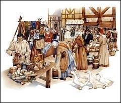 Quel impôt était prélevé pour l'étalage des marchandises sur les marchés ?