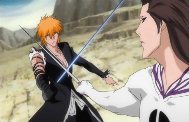 """Un combat d'épée génial ! Quel est ce combat dans """"Bleach"""" ?"""