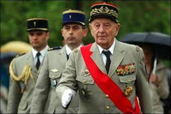 Né à Toul le 14 février 1916, militaire français entré dans l'armée en 1936 comme 2e classe, il finira sa carrière en 1976 comme général 4 étoiles. Prisonnier durant la Seconde Guerre mondiale, il arrive, le 11 novembre 1941, à s'évader et devient résistant. Resté surtout connu pour avoir participé aux conflits indochinois et algérien, il disparaît le 18 juin 2010, qui est-ce ?