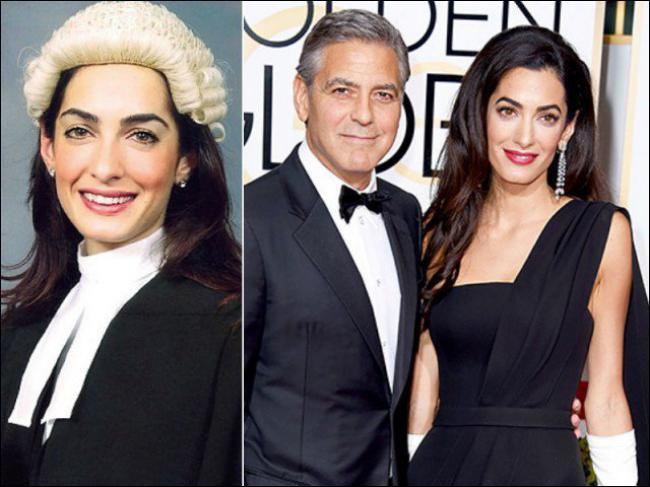 Même si le barreau ne conduit pas toujours à la politique (enfin quand même : Mitterrand et Sarkozy ! ), Amal Alamuddin peut se targuer d'avoir M. Georges Clooney comme ----. (Complétez ! )