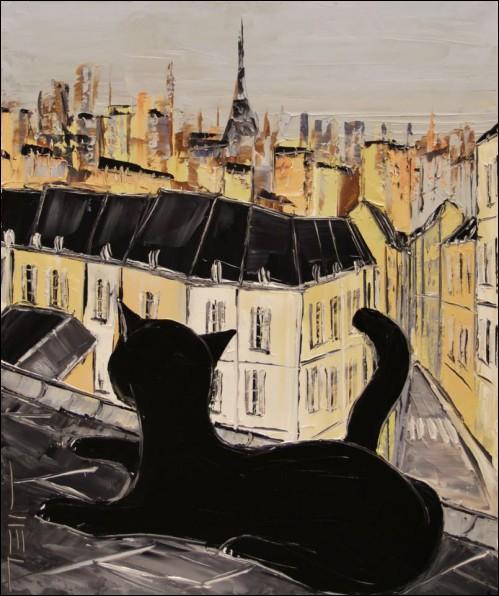 Dans quelle ville ce chat noir vit-il ?