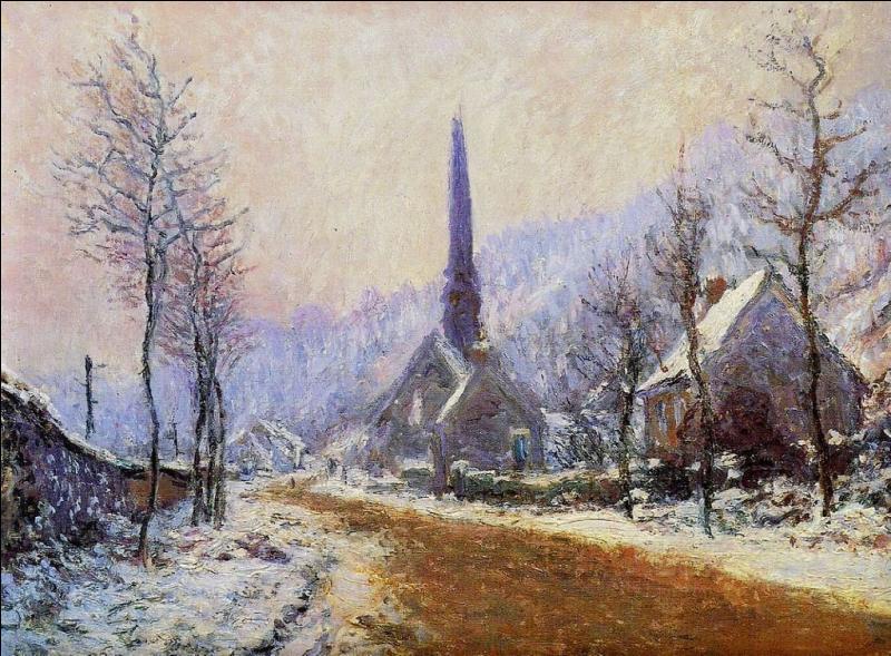 """Lequel de ces artistes, connu pour avoir peint """"Les Nymphéas"""", a représenté """"L'église de Jeufosse, temps de neige"""" ?"""