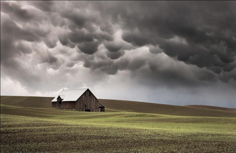 En été, quand un orage se profile à l'horizon, comment est le temps ?