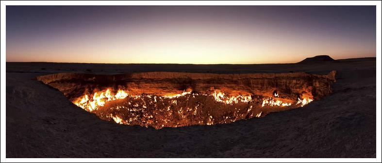 Voici un cratère en flamme depuis plus de 40 ans, au Turkménistan. Alors, naturel ou artificiel ?