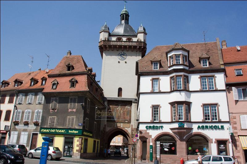 Quelle ville du Bas-Rhin, fortifiée par Vauban, située à proximité de la route des vins d'Alsace, abrite la tour des Sorcières et la tour de l'Horloge ?